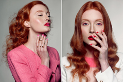hair photographer, redhead, luxury, retouch